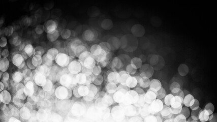 Abstract images from black and white bokeh for the background Wall mural
