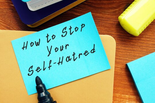 How to Stop Your Self-Hatred sign on the sheet.