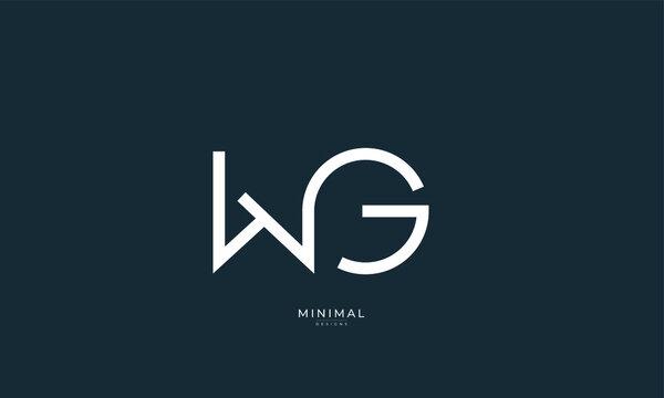 Alphabet letter icon logo WG