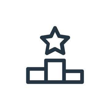 ranking vector icon. ranking editable stroke. ranking linear symbol for use on web and mobile apps, logo, print media. Thin line illustration. Vector isolated outline drawing.
