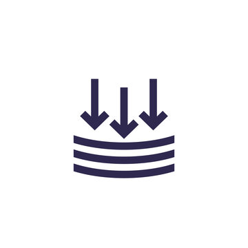 external pressure icon, vector sign