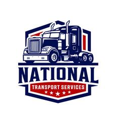 vector illustration of a truck logo