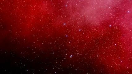 Fototapeten Violett rot Stars in sky, starry night starlight shine of milky way, space cosmic background, starry background 3d render