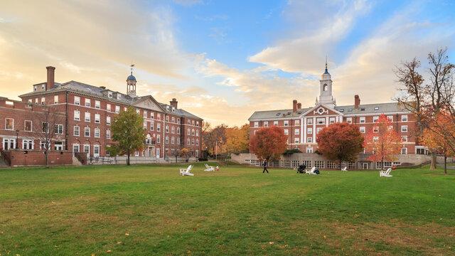 Moors Hall on Harvard University campus in Fall in Cambridge, MA, USA on November 2, 2013.