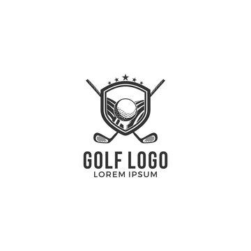 golf logo, emblems and insignia golf tournament badge logo vector illustration - Vector