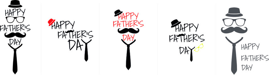 Happy Father's Day. Various logos, vectors, illustrations for father's day
