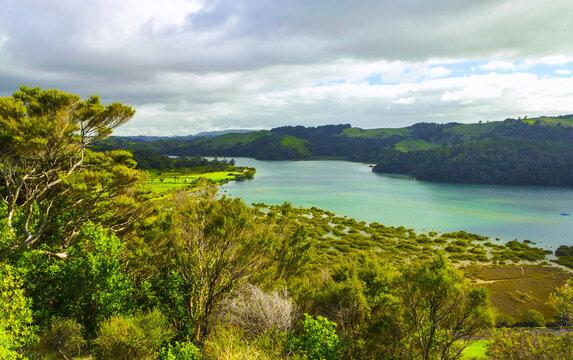 Landscape View of Puhoi River Wenderholm Auckland New Zealand; Regional Park