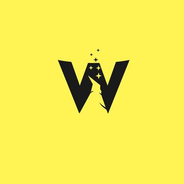 138 Abstract Logo wizard Hat Magic Logo Concept