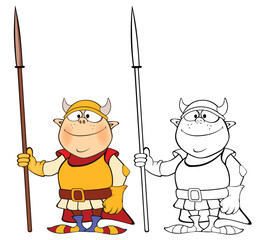Stores à enrouleur Chambre bébé Vector Illustration of a Cute Cartoon Character Knight for you Design and Computer Game. Coloring Book Outline Set