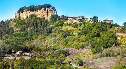 Landscape at Orvieto in the province of Terni in Umbria Italy