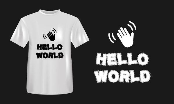 Hello World  T Shirt Design