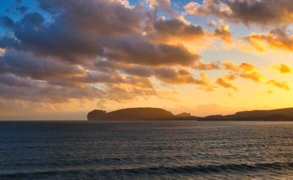 Sonnenuntergang über Sardinien