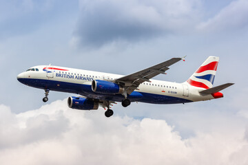 British Airways Airbus A320 airplane London Heathrow airport in the United Kingdom