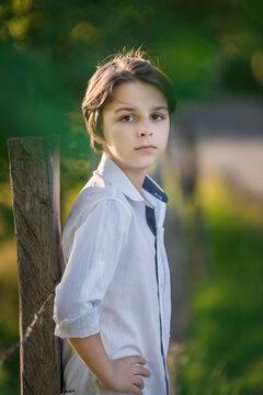 portrait of a 12 year old boy