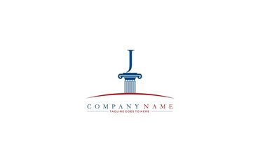 Law firm pillar J logo design template