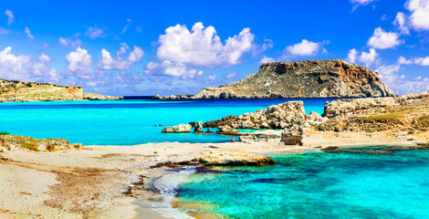 most beautiful beaches of Greece - Lefkos with turquoise sea, in Karpathos island
