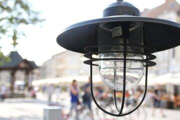 Fototapeta lampa uliczna rynek swiatło oswietlenie  obraz
