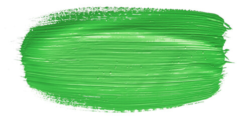 Fototapete - Green chroma brush stroke paiting over isolated background, canvas watercolor texture