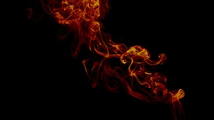 Cloud of orange smoke on a black background - perfect for cool wallpapers