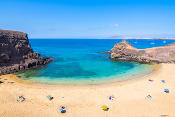 Beautiful view of Parrot Beach ( Papagayo Beach) - Lanzarote, Canary Islands - Spain