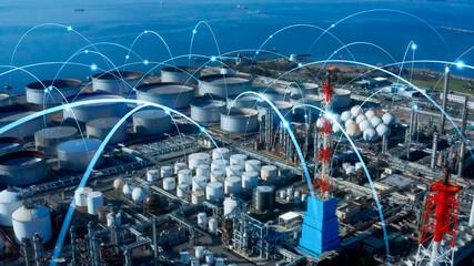産業とネットワーク Wall mural