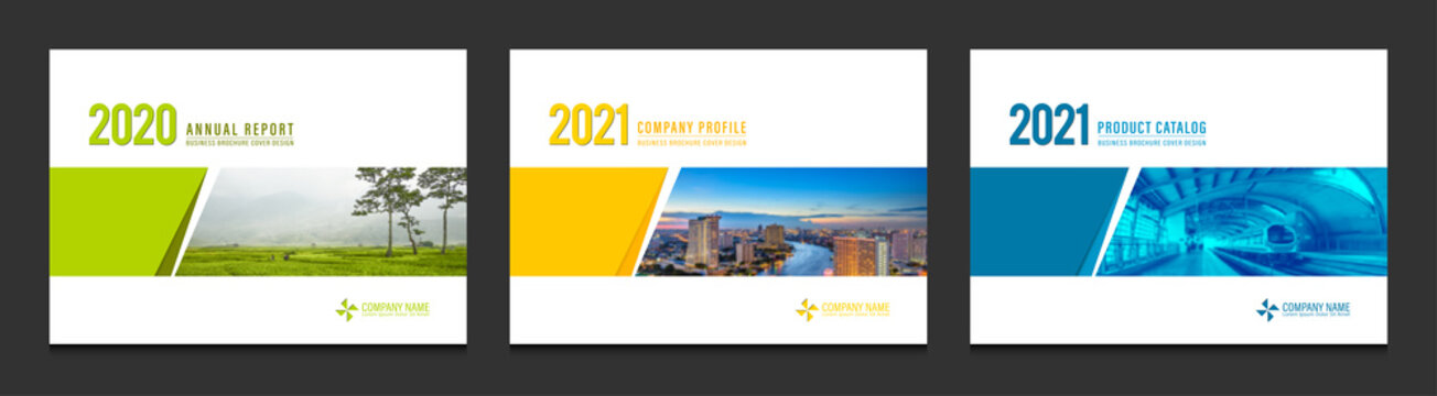 Cover design for annual report business catalog company profile brochure magazine flyer booklet poster banner. A4 landscape template design element cover vector.