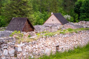 Fototapeta Klastorisko in Slovak Paradise, Slovensky Raj National Park, Slovakia