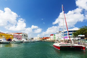 Bridgetown sea canal in Barbados