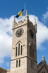 Parliament clocktower in Bridgetown in Barbados