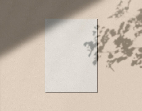 Textured Paper mockup Stationery Letter head Mockup with Shadow