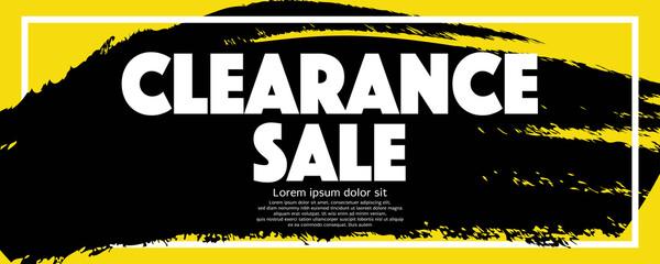 Clearance Sale Banner Vector Illustration.