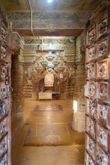 Interior of Jain Temples in Jaisalmer fort. India