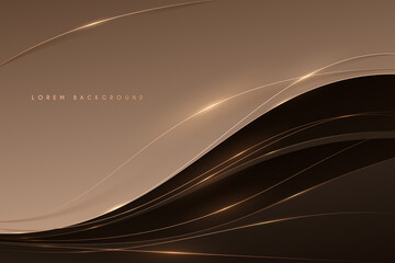 Obraz Abstract soft brown color background with gold lines - fototapety do salonu