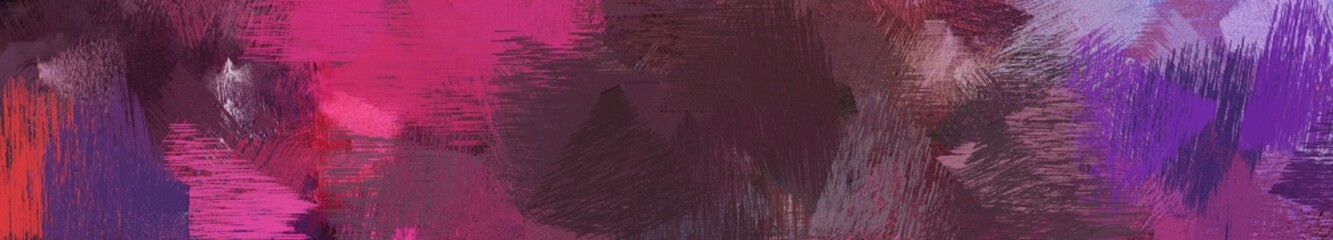 wide landscape graphic with abstract brush strokes background with old mauve, moderate pink and medium purple