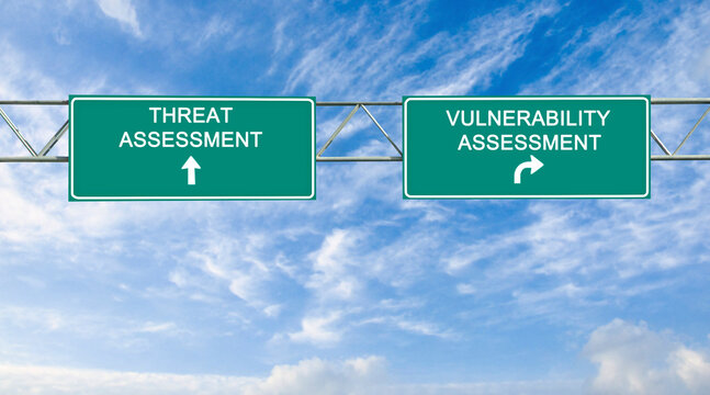 Road signs to Threat and vulerability assessment