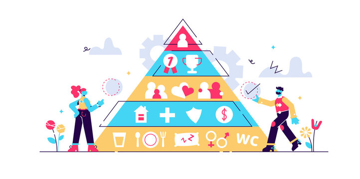 Basic needs vector illustration. Flat tiny