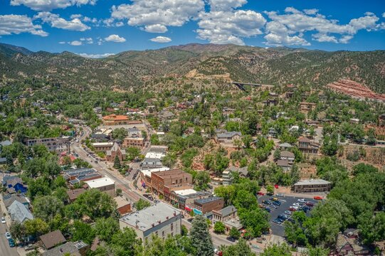Aerial View of Downtown Manitou Springs