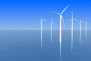 off shore wind turbines