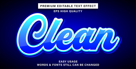 Wall Mural - Editable text effect clean