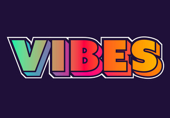 Colourful Gradient Text Effect