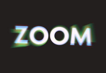 Glitch Blur Text Effect