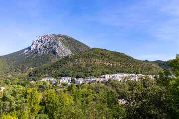 Benamahoma in the Sierra de Grazalema, one of the famous white towns of Andalusia, Spain.