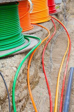 Verlegung von Glasfaserkabeln
