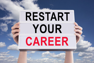Restart or reset  your career with human resources consultancy business concept