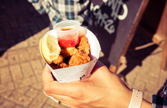 Fried Fast Food at Local Food Festival