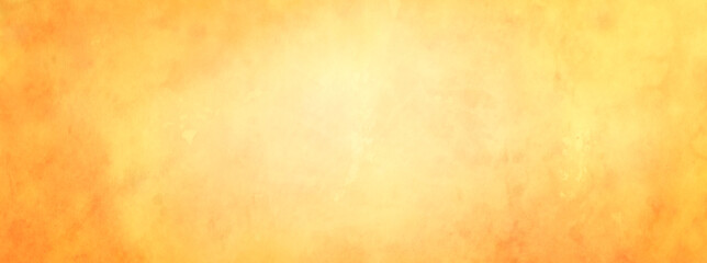 Wall Mural - Yellow background with soft gold center and orange vintage texture with light blur and autumn colors, abstract golden background