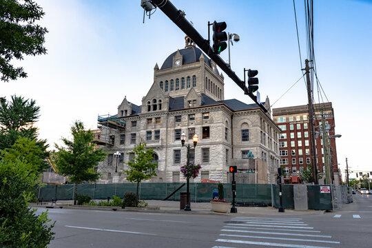 Historic Lexington Courthouse under renovation