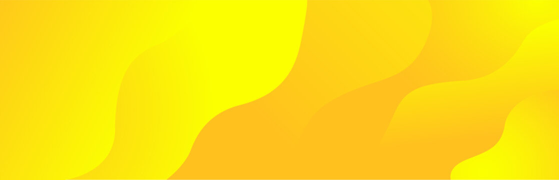 Bright sunny yellow dynamic fluid wavy abstract background. Modern lemon orange color. Fresh business banner for sale, event, holiday, party, halloween, birthday, falling. Fast moving 3d liquid shapes
