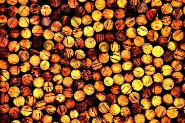 Fototapeten Brennholz-textur rondelles de bois