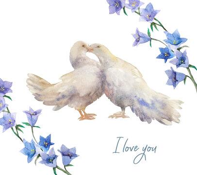 doves in love